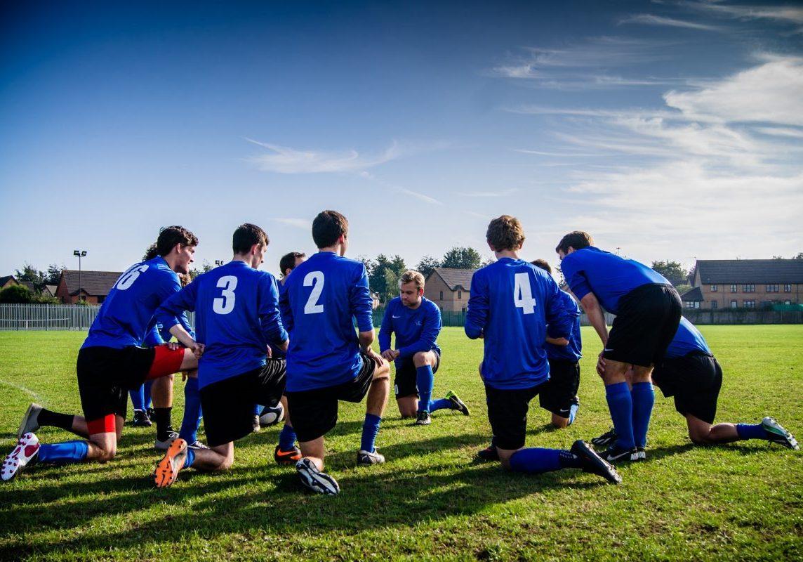 French football team training